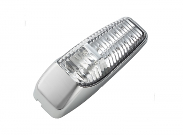 LED Side Marker- Cab Marker Light, clear lens/ blue light